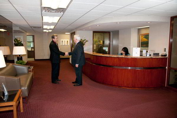 Receptionist Welcoming Area - New York Virtual Office