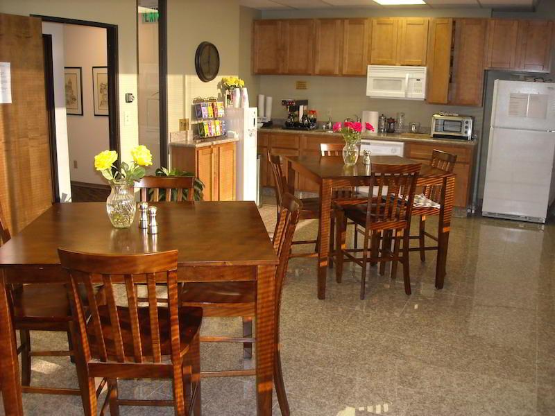 Break Area in Burlingame Virtual Office Space
