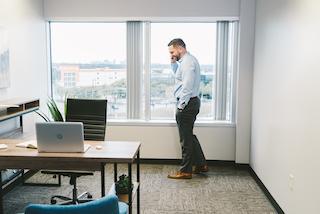 Temporary Dallas Office - Meeting Room