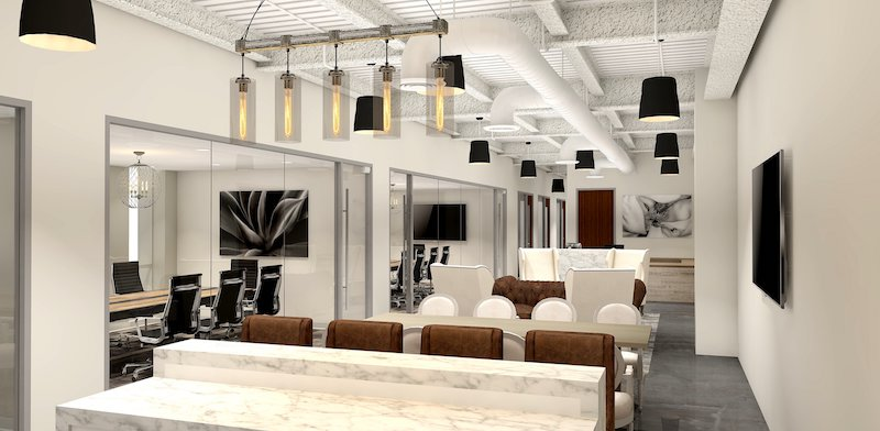 Beverly Hills Busines Address - Lounge Area