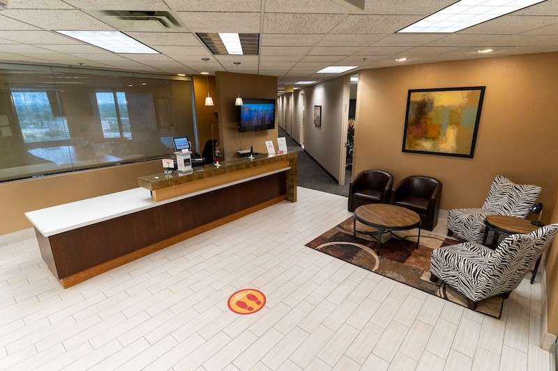 Receptionist and Mail Area - Bloomington Virtual Office