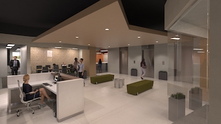 Receptionist and Mail Area - Dallas Virtual Office