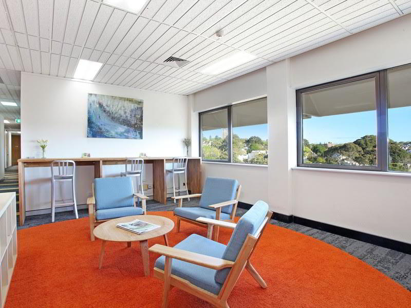 Edgecliff Virtual Office Space - Comfortable Commons Area