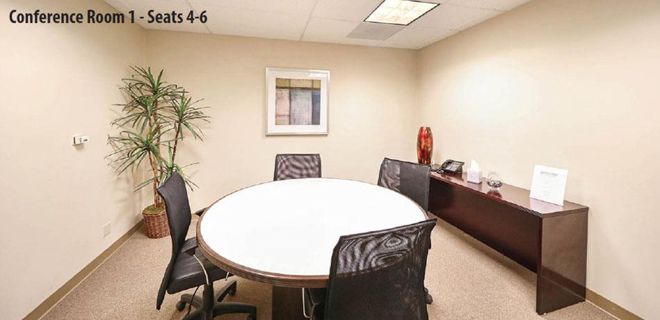 Stylish Orange Meeting Room