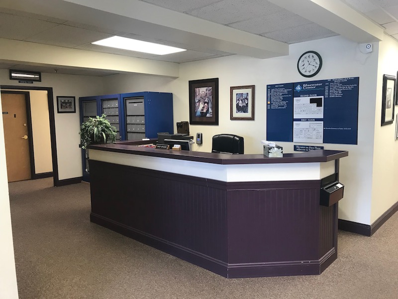 Shelburne Live Receptionist and Business Address Lobby