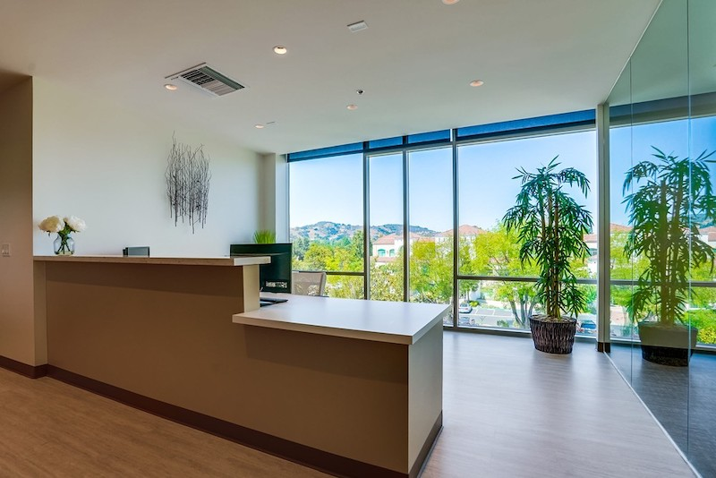 Receptionist and Mail Area - Westlake Village Virtual Office