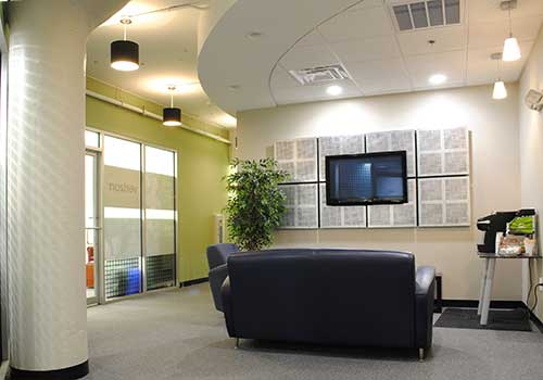 Woburn Live Receptionist and Business Address Lobby