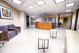 Receptionist Lobby - Virtual Offices in Woodland Hills