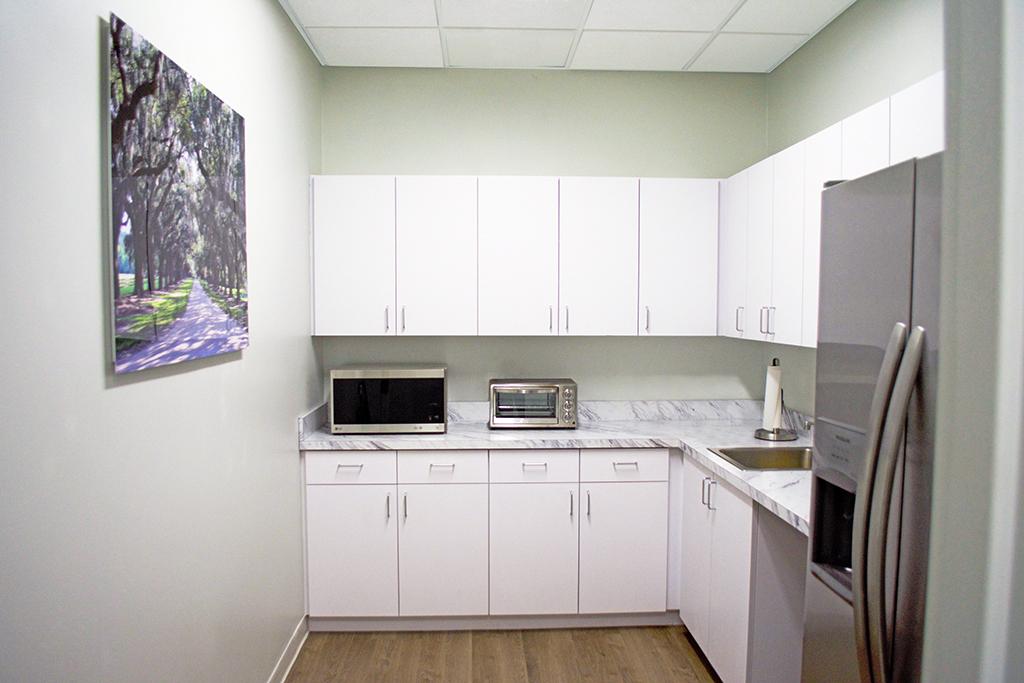 Break Area in Charlotte Virtual Office