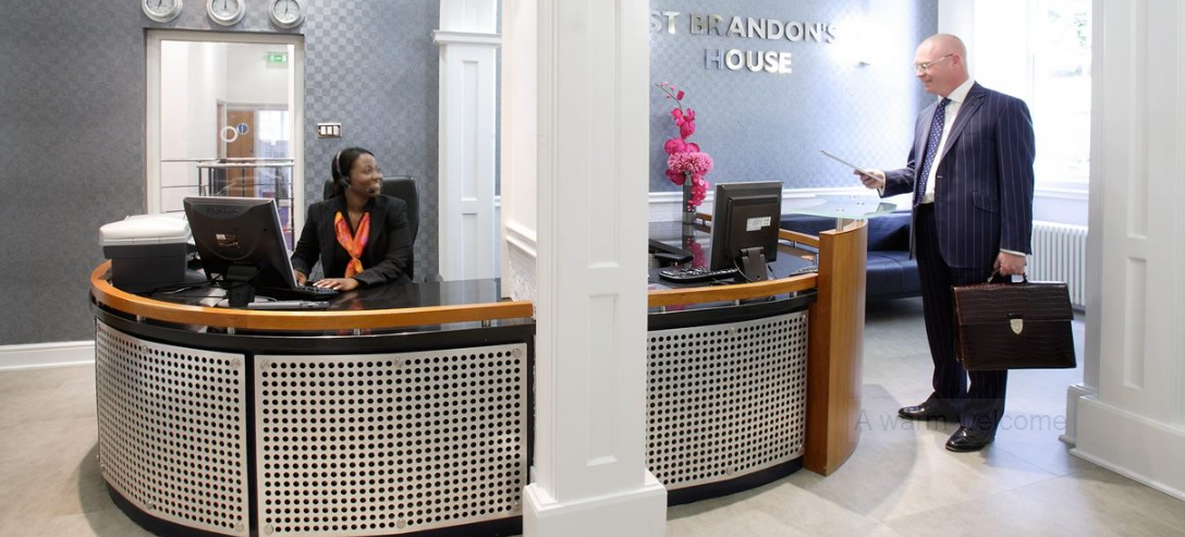 Receptionist Lobby - Virtual Offices in Bristol