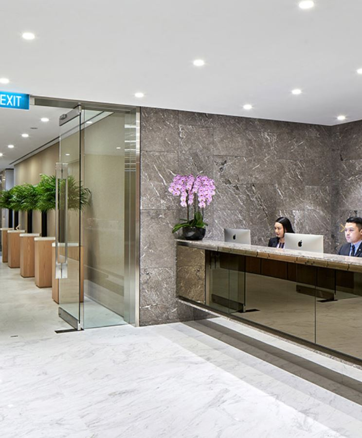 Receptionist and Mail Area - Singapore Virtual Office