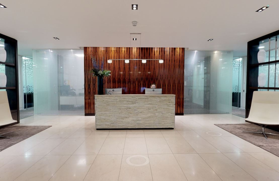 Receptionist and Mail Area - London Mayfair Virtual Office