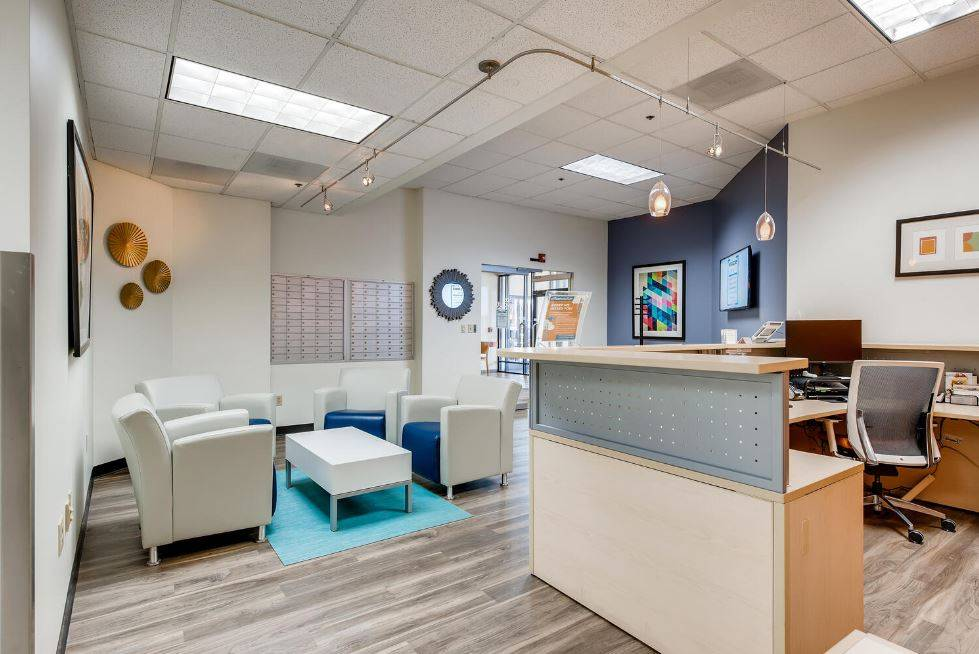 Receptionist and Mail Area - Lone Tree Virtual Office