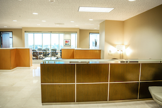 Receptionist and Mail Area - Orange Virtual Office