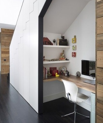 Home office designs - Cupboard under the stairs