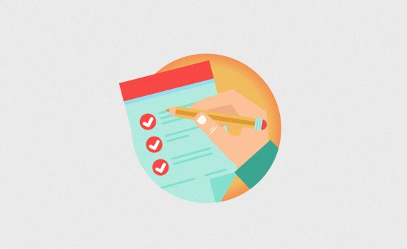 Vector set of business concepts - advertising agreement development - in flat retro style