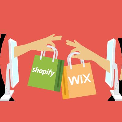 shopify vs wix section