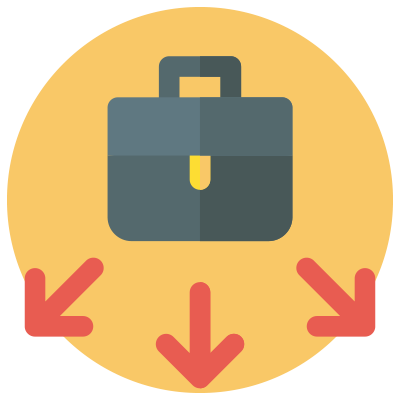 The 3 types of employment status include - self-employed - icon