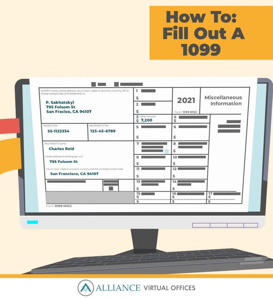 How To Fill Out A 1099-MISC infographic