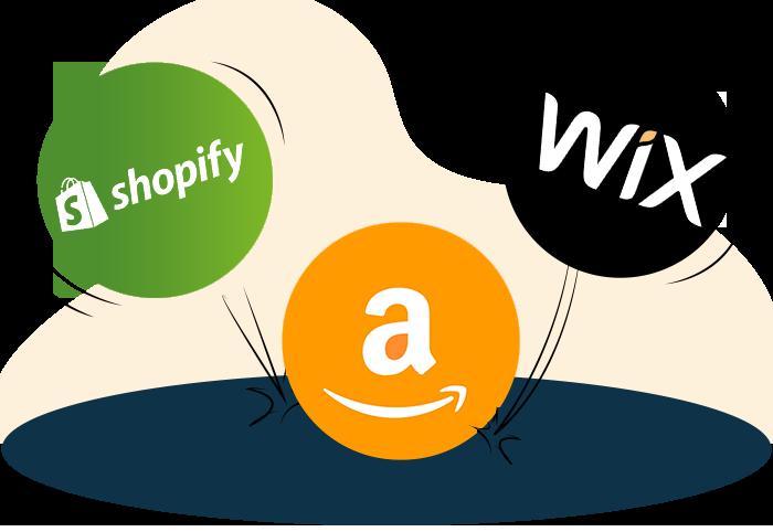 Shopify vs Amazon section