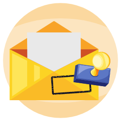 All of the mail received is picked up, signed for, and stored securely.  icon