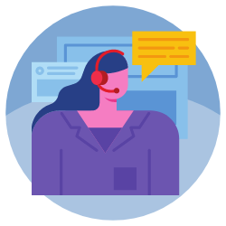 Business support services (e.g. live receptionists, printing, faxing, copying) icon