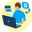 Examples of Free VoIP Services - skype - icon