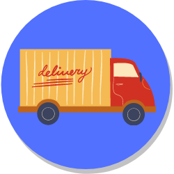 There are many different  types of courier businesses to choose - van courier - icon