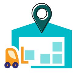 """How Small Courier Businesses Can Aid with the """"Last Mile"""" Problems - warehousing - icon"""