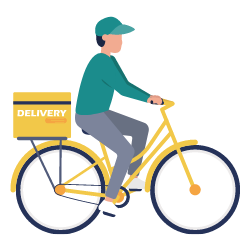 """How Small Courier Businesses Can Aid with the """"Last Mile"""" Problems - bicycle deliveries - icon"""