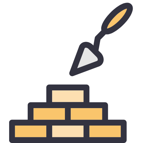 set a strong foundation icon